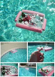 pool noodle floating drink cooler diy