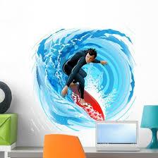 Surfer Wall Decal Wallmonkeys Com