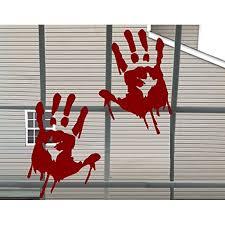 Halloween Decor Bloody Hand Prints Wall Or Window Halloween Decal Each Print Is 5 X 8 These Are Not Window Clings Walmart Com Walmart Com