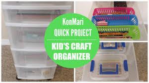 Konmari Organization Kid S Craft Organizer Youtube