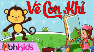 Bé Tập Vẽ Con Khỉ - Hướng Dẫn Trẻ Học Vẽ - YouTube
