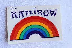 Rainbow Sticker Vintage Rainbow Glass Decal 70 S Or 80 S Transparent Rainbow Car Window Decal In 2020 Rainbow Stickers Glass Decals Rainbow Decal