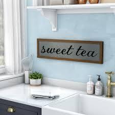 Laurel Foundry Modern Farmhouse Sweet Tea Galvanized Metal Wall Decor Reviews Wayfair