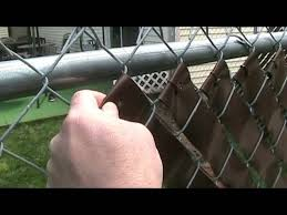 Vinyl Privacy Fence Weave Easy How To Video Youtube