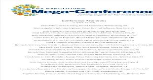 2014 Mega-Conference Attendees - [PDF Document]
