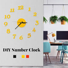 3d Diy Roman Numbers Acrylic Mirror Wall Sticker Clock Home Decor Mural Decals Buy At A Low Prices On Joom E Commerce Platform
