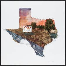 "Texas Sunset by Jack Boynton (1979). Autographed Print (22"" X 22""). 