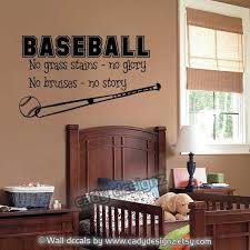 Baseball Wall Decal Sports Boys Room Decor Vinyl By Cadydesignz 24 00 Baseball Wall Baseball Wall Decal Boys Room Decor
