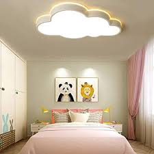 Amazon Com Lakiq Modern Creative Acrylic Led Lights Cloud Shape Children Room Ceiling Light Flush Mount Ceiling Chandelier Lighting Fixture For Kids Bedroom Kindergarten Living Room 25 5 Warm Light Home Improvement