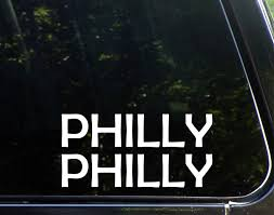 Amazon Com Philly Philly Funny Decal Stickers For Cars Window Trucks Laptop Decoration 8 Inch Home Kitchen