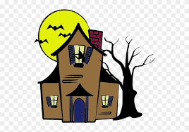 Halloween Haunted House Drawing Easy Free Transparent Png Clipart Images Download