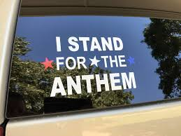 Amazon Com I Stand For The National Anthem Decal Sticker American Patriot Flag Respect Automotive