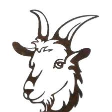 Unbranded 10 In Tall Steel Metal Rustic Rust Goat Face Wall Art Brownish Red Cd304 The Home Depot