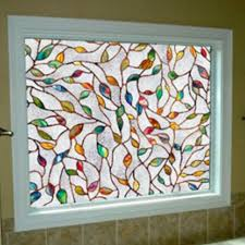 static cling stained glass window
