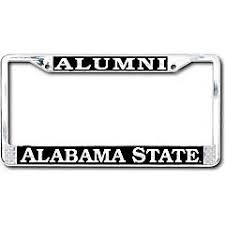 Alabama State University License Plate Frames Car Decals And Stickers