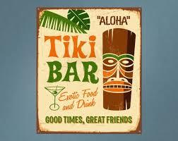 Tiki Bar Printed Wall Decal Wall Decal Tiki Decor Bar Sign Etsy