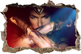 Wonder Woman Movie Smashed Wall Decal Wall Sticker Home Decor Art Mural H908 Mini Wantitall