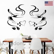 1pc Coffee Cups Cafe Tea Wall Stickers Art Vinyl Decal Kitchen Home Decor Us For Sale Online Ebay