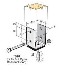 Bowmac B28 Post And Bearer Bracket Galvanised
