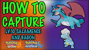 How to Capture Level 10 Salamence and Bagon - Pokemon Sun and Moon - YouTube