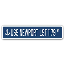 Uss Newport Lst 1179 Street 3 Pack Of Vinyl Decal Stickers Walmart Com