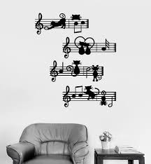 Wall Decal Musical Notes Kittens Melody Cats Music Vinyl Sticker Ed14 Wallstickers4you