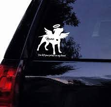 Amazon Com Pitbull Angel With Wings Decal B In Memory Vinyl Car Decal Window Sticker 10 Arts Crafts Sewing