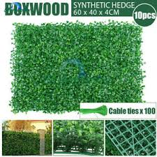10x Artificial Boxwood Hedge Fake Vertical Garden Green Wall Ivy Fence Mat 2019 786467270360 Ebay