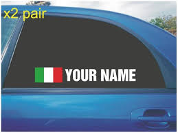 Your Name Rally Race Car Window Sticker Decal With Italy Etsy
