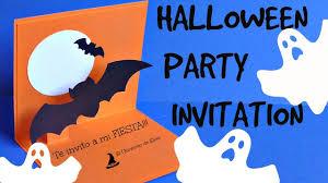 Diy Tarjeta Invitacion Para Halloween Super Facil Halloween