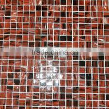 red mix black amber glass mosaic tile