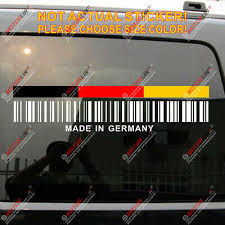 Made In Germany German Upc Barcode Funny Car Decal Sticker