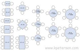 restaurant table sizes drawing plan