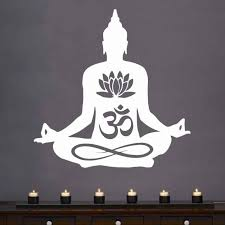 Home Mural Removable Vinyl Sticker Buddha Statue Indian Yoga Wall Decal Yoga Buddha God Wall Sticker Home Bedroom Decor Ay495 Aliexpress