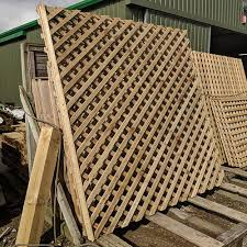Large Panels Of Heavy Diamond Trellis From The Crestala Fencing Centre