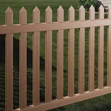 Danbury Picket Fence Select Cedar Straight Concave Avinylfence Com