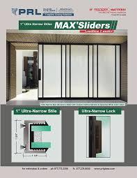 max aluminum sliding doors by prl glass