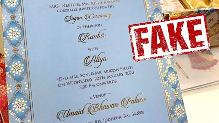 Image result for ranbir alia fake wedding card