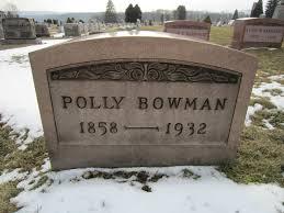 Polly A. Bowman (Weaver) (1858 - 1932) - Genealogy