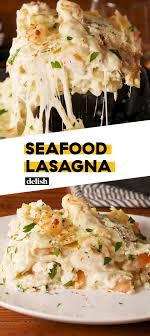 Seafood lasagna recipes, Seafood ...