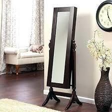 wooden full length wall mirror