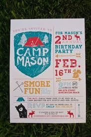 Camping Party Invitations Design Fancy Invitaciones Para