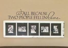 All Because Two People Fell In Love Vinyl Wall Decal Sticker Wedding Bedroom Ebay