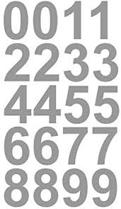 Amazon Com 2 Inch Premium Mailbox Number Vinyl Decal Sticker Sheet Silver Waterproof And Fade Resistant Easy To Install Adhesive Vinyl Digits Home Apartment Condo Or Business By Customdecal Us Home