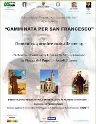 """Il 4 ottobre la """"Camminata per San Francesco"""" – U.S. Acli Marche"""