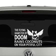 Flying Hamster Of Doom Ver 1 Vinyl Decal Sticker