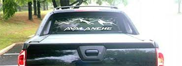 Amazon Com Montree Shop 2002 Chevy Avalanche Rear Window Decal Style 2 Graphic Sticker Kitchen Dining