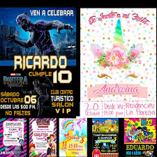 Video Invitacion De Cumpleanos Plantilla Powerpoint Vol1