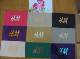 h m gift card lot for collection 10