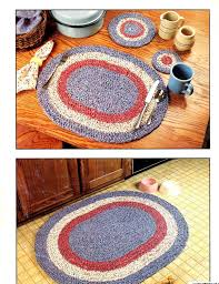 fabric rag rugs and table setting 9